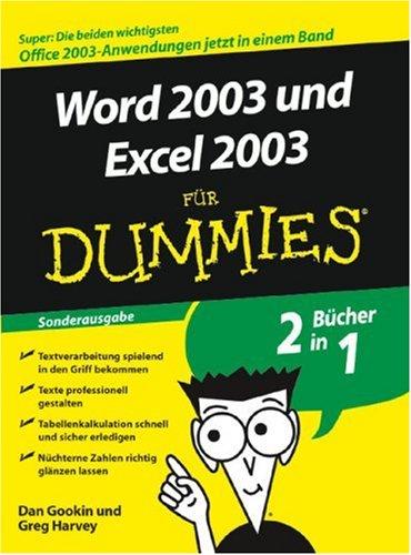 Word 2003 und Excel 2003 für Dummies